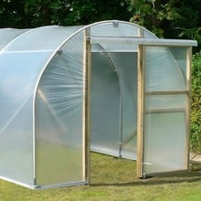 Polytunnel 8ft wide with Sliding Doors