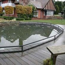Raised Steel Pond Cover Large Irregular - Bespoke Product