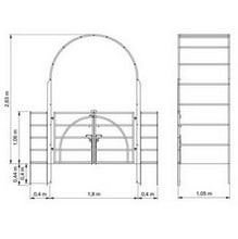 Roman Arch with Gate & Estate Fencing-Bespoke Design