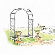 Roman Arch with Integral Bench