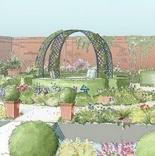 Roman Latticed Rose Arch Gazebo-Bespoke Design
