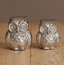 Silver Style Deco Owl Decorations by Sia