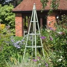 Steel Pyramid Obelisk - Lichen Green