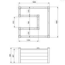 Superior Raised Bed 4 Tier U Shape - Bespoke Design