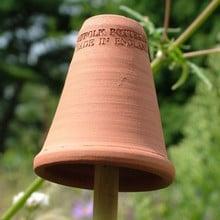 Terracotta Flowerpot Cane Toppers (set of 5)