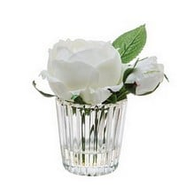 White Rose Stem in Small Vase by Sia