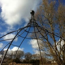 Wire Gazebo with Integral Seating-Bespoke Design