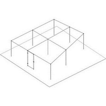 Angled Aluminium Fruit Cage - Bespoke Design