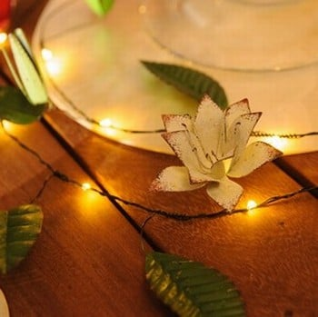 Automatic LED String Lights Clematis Design