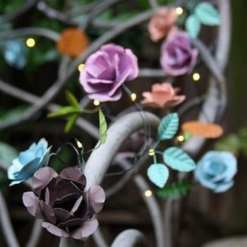 Automatic LED String Lights Rose Design