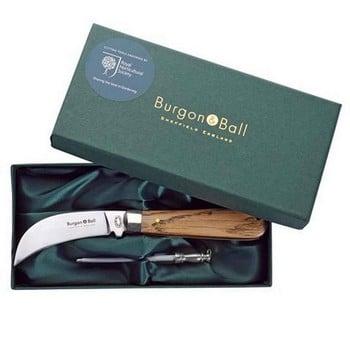 Burgon & Ball Classic Pruning Knife & Sharpening Steel Gift Set