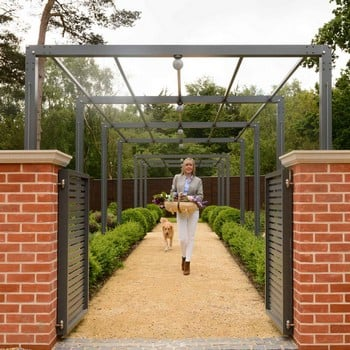 Contemporary Arch & Pergola Walkway
