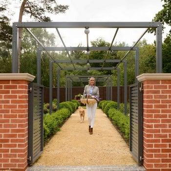 Contemporary Arch & Pergola Walkway