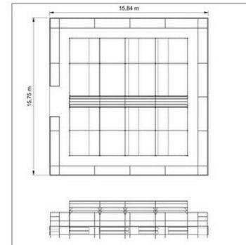 Corridor Fruit Cage with Flat Cage Surround - Bespoke Design