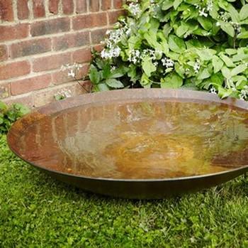 Corten Water Bowl