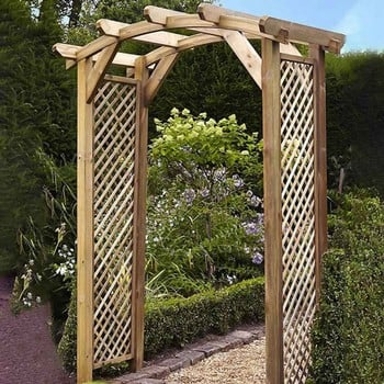 Dalton Wooden Curved Garden Arch