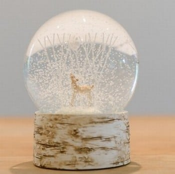 Deer Birds and Trees Snowdome by Gisela Graham