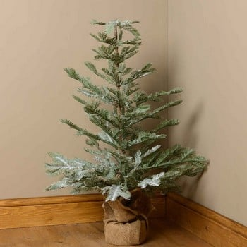 Frosted Feather Pine Christmas Tree by Floral Silk