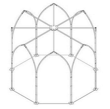 Gothic Gazebo Focal Point-Bespoke Design