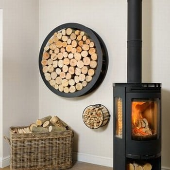 Harrod Circular Steel Log Holder (Wall Mounted)