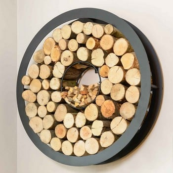 Harrod Circular Steel Log Holder (Wall Mounted)