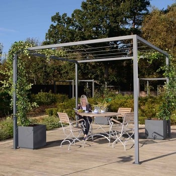 Harrod Modern Pergola Wire Grid Roof