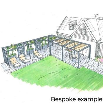 Harrod Modern Pergola Wire Grid Roof