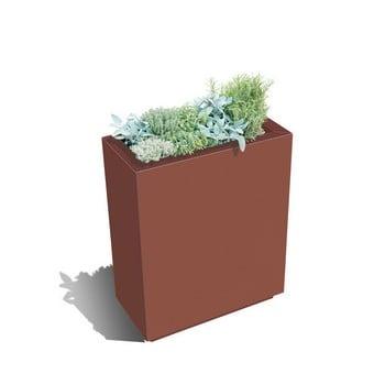 Harrod Rectangle Metal Planters - Corten Effect
