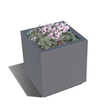 Harrod Square Metal Planters - Anthracite Grey