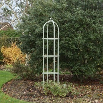 Harrod Steel Round Obelisks - Lichen Green
