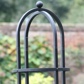Harrod Steel Round Obelisks - Matt Black