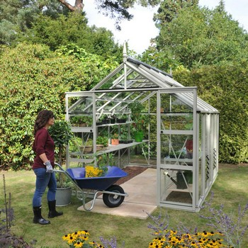 Harrod Superior Greenhouse - Willow Grey