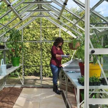 Harrod Superior Greenhouse - Willow Grey
