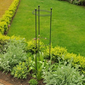 Harrod Tall Circular Plant Support - Matt Black