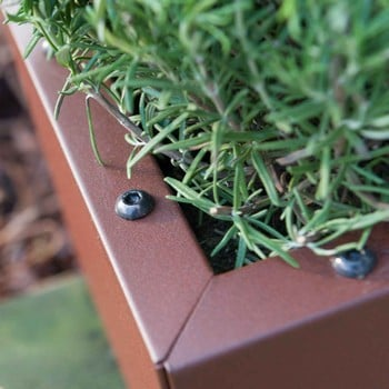 Harrod Trough Metal Planters - Corten Effect