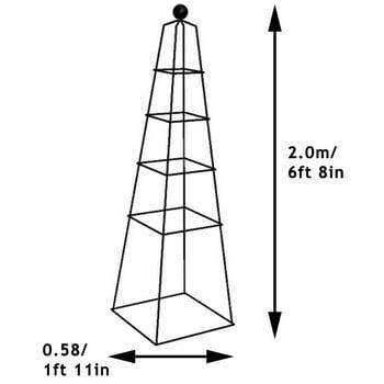 Harrod Vintage Pyramid Wire Obelisks