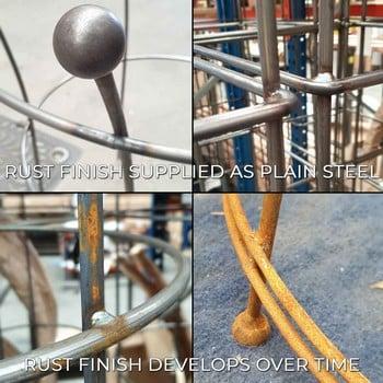 Harrod Vintage Wire Arch - Natural Rust