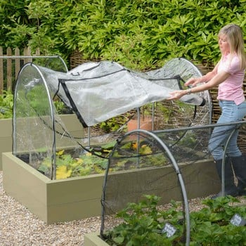 Hoops & PVC Cover for Standard Metal Raised Beds