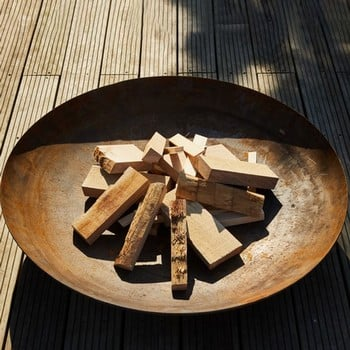 Large Curved Fire Bowls
