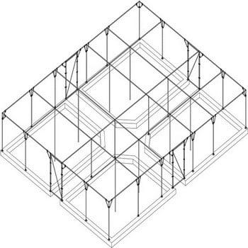 Large Steel Fruit Cage Over Raised Beds - Bespoke Design