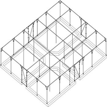 Large Steel Fruit Cage Over Raised Beds - Bespoke Design