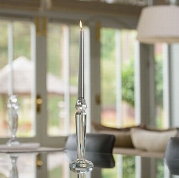 Lead Crystal Candle Holder by Sia