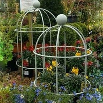 Lobster Pot Plant Supports - Pigeon Grey