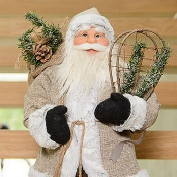 Luxury 60cm Standing Santa Decoration