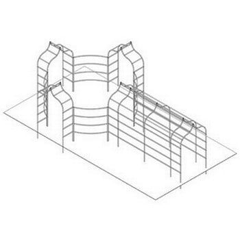 Ogee Arch, Curved Fence and Pergola - Bespoke Design