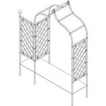 Ogee Half Lattice Arch with Lattice Side Panel - Bespoke Design