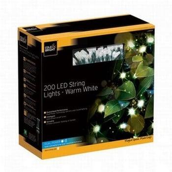 Outside LED String Lights - Dual Power