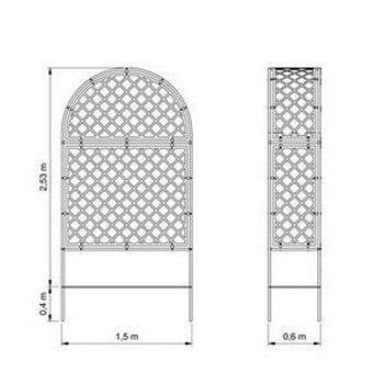 Roman Fully Latticed Arbour-Bespoke Design