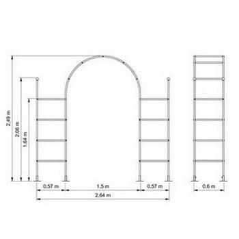 Roman Garden Arch with Pillars-Bespoke Design