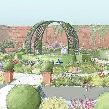 Roman Latticed Rose Arch Gazebo-Bespoke Design